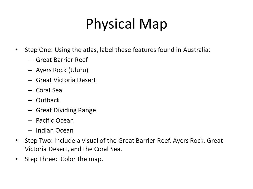 Political Map Of Victoria Australia.Australia Map Booklet Directions Political Map Step One Using The