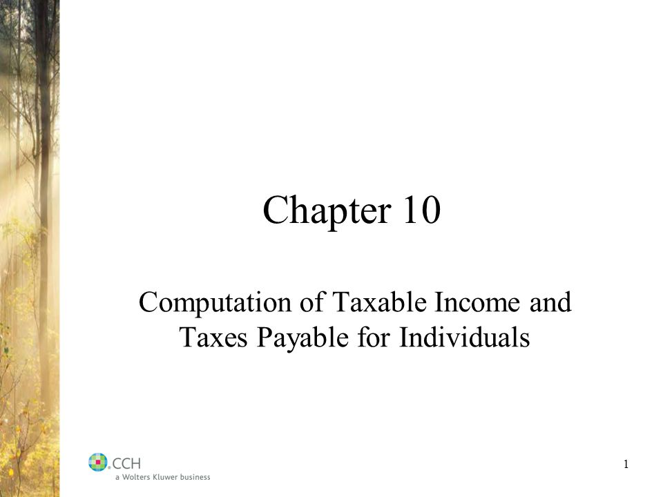 Chapter 10 Computation Of Taxable Income And Taxes Payable