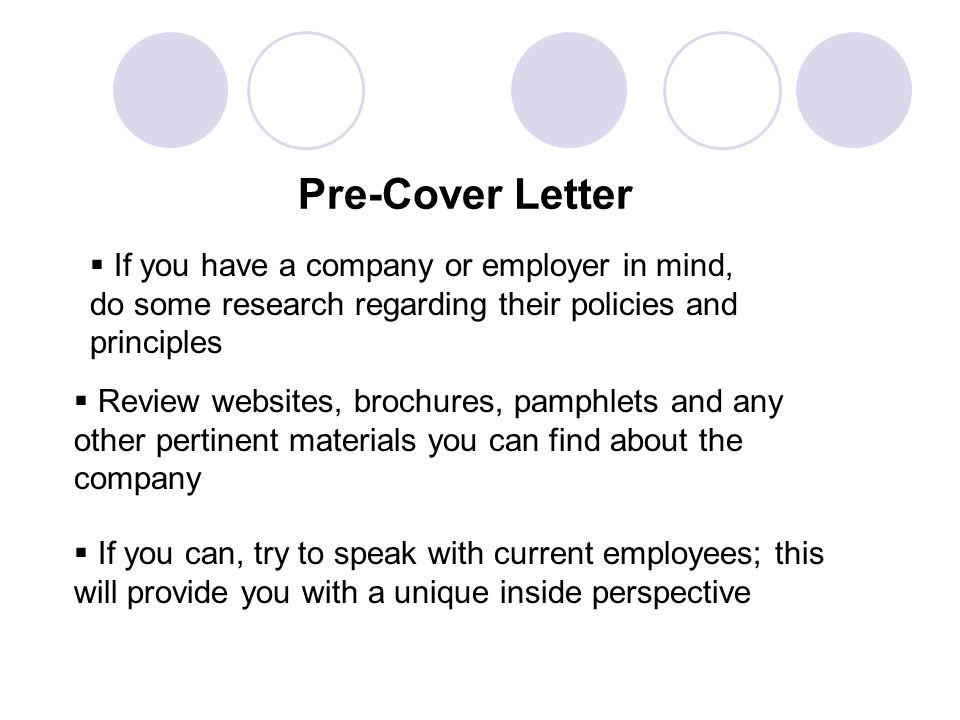 writing a perfect cover letters