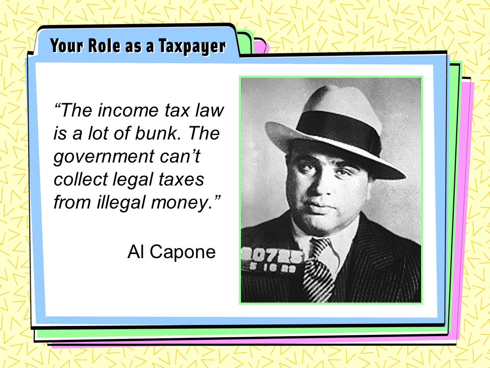 The income tax law is a lot of bunk.