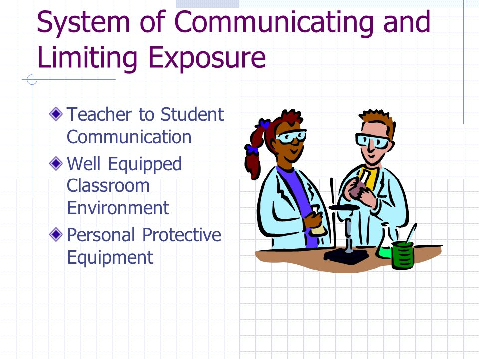 System of Communicating and Limiting Exposure Teacher to Student Communication Well Equipped Classroom Environment Personal Protective Equipment