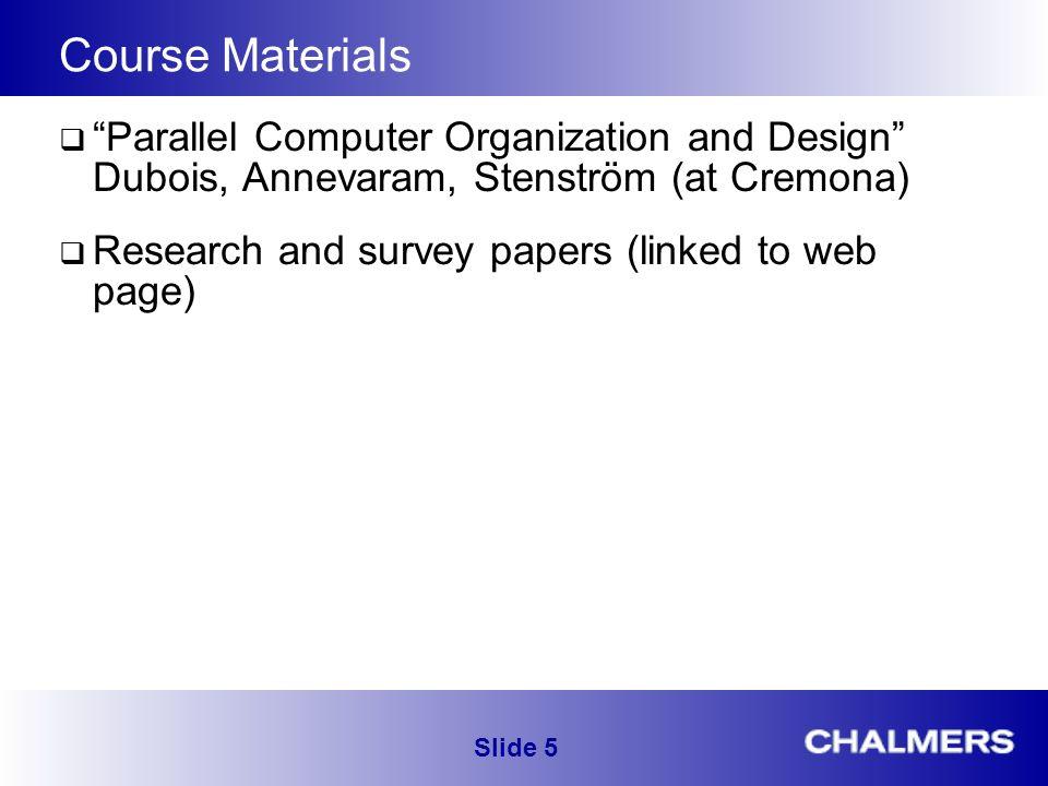 Parallel Computer Organization And Design Eda282 Slide Ppt Download