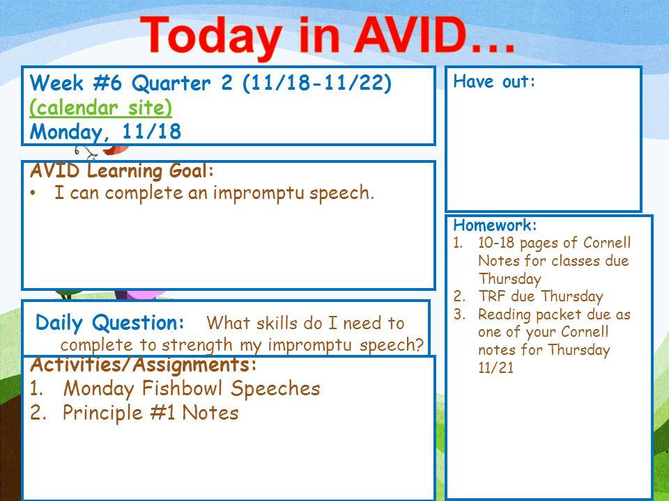 Week 6 Quarter 2 1118 1122 Calendar Site Calendar Site