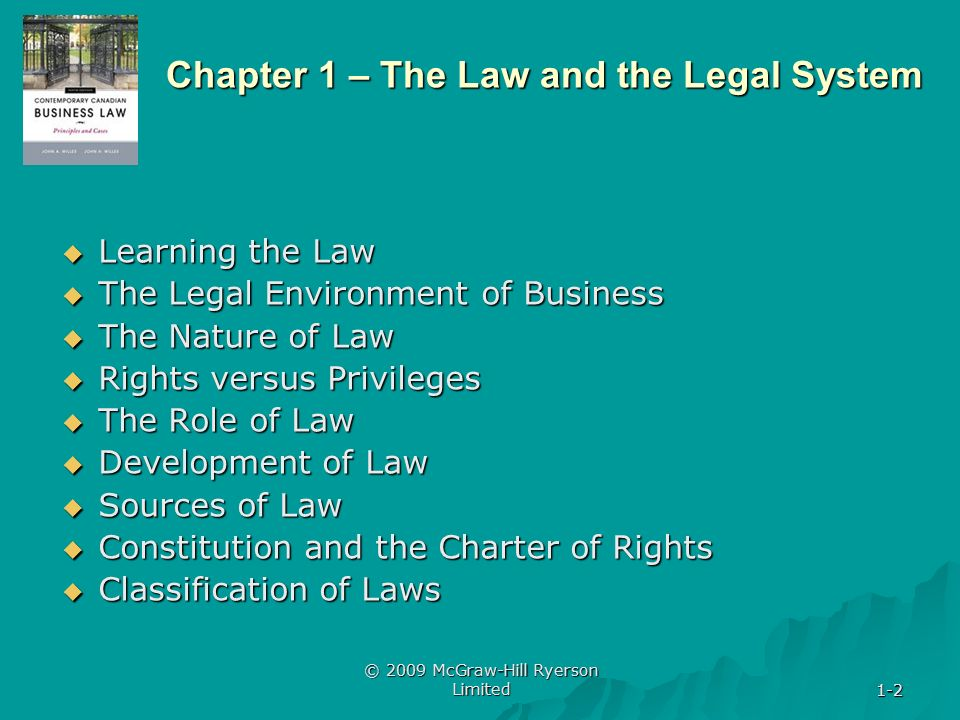nature and classification of law