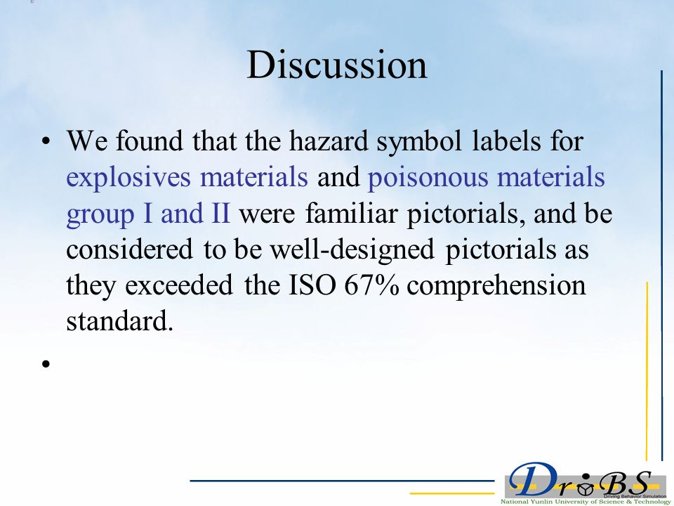 Effect Of Hazardous Material Symbols Labeling And Training On