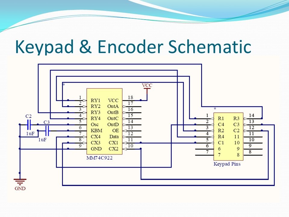 30 Keypad & Encoder Schematic