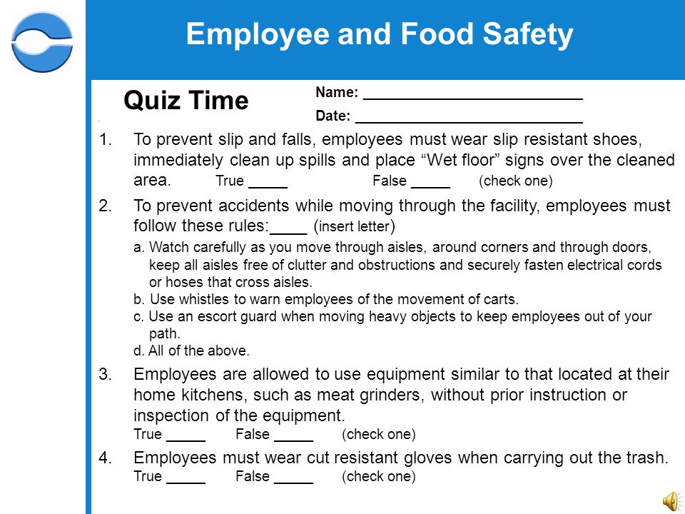image relating to Free Printable Food Safety Signs identified as 2 Staff and Food stuff Security Working out 3 Personnel and Food items