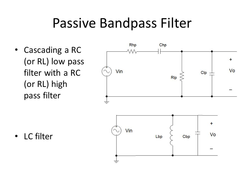 Active Filters  This is not in the lab manual While the circuit that