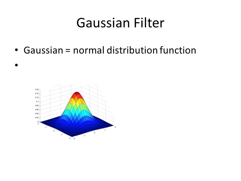 CSC589 Introduction to Computer Vision Lecture 3 Gaussian