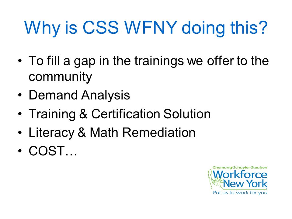 Css Workforce Ny Offers On Line Learning To Businesses Metrix