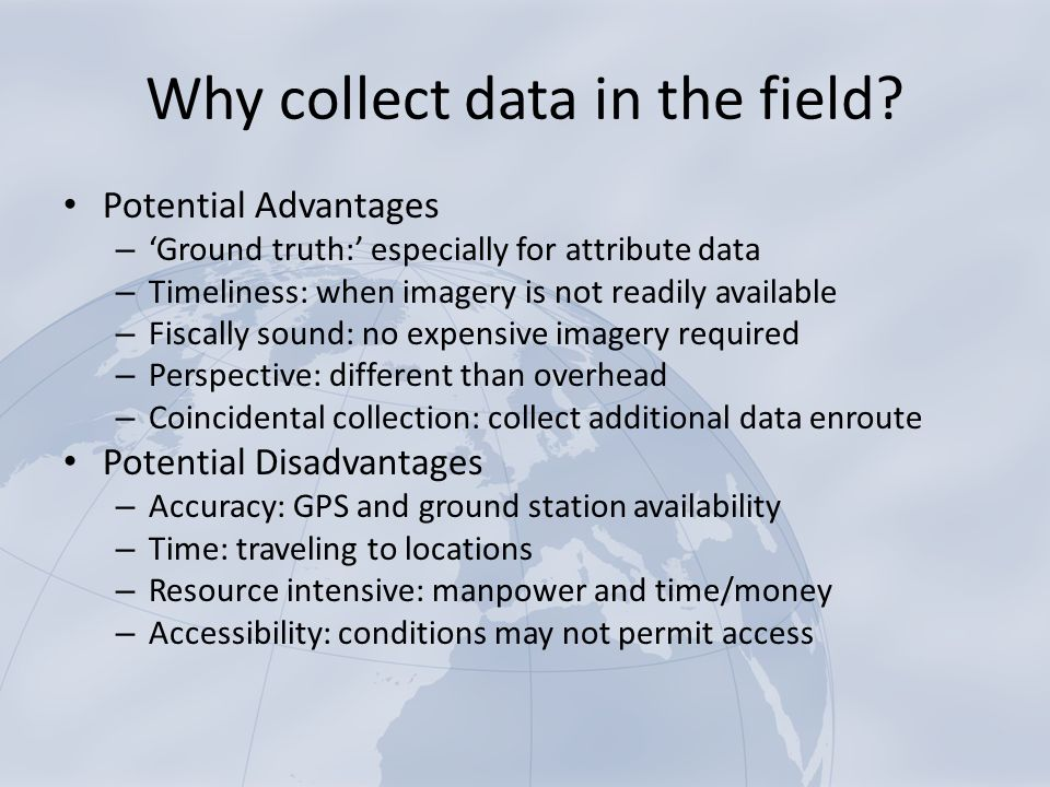 advantages of data collection