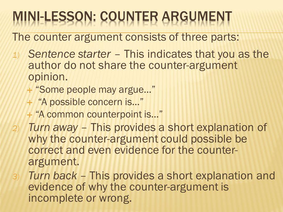 argument sentence starters
