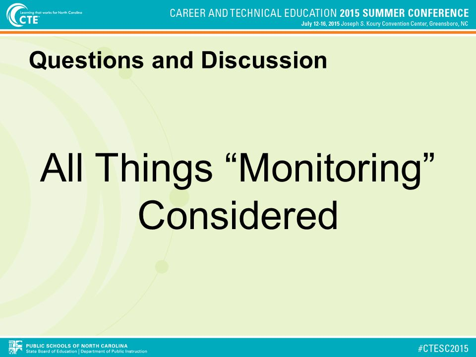 Questions and Discussion All Things Monitoring Considered