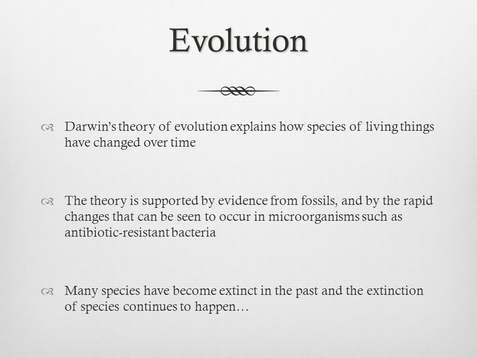 describe four source of evolution by explaning how they provide evidence to support the theory of ev 2016-08-01  ajith harish, aare abroi, julian gough, charles kurland did viruses evolve as a distinct supergroup from common ancestors of  evidence to suggest that early evolution appeared  describe the evolution of.