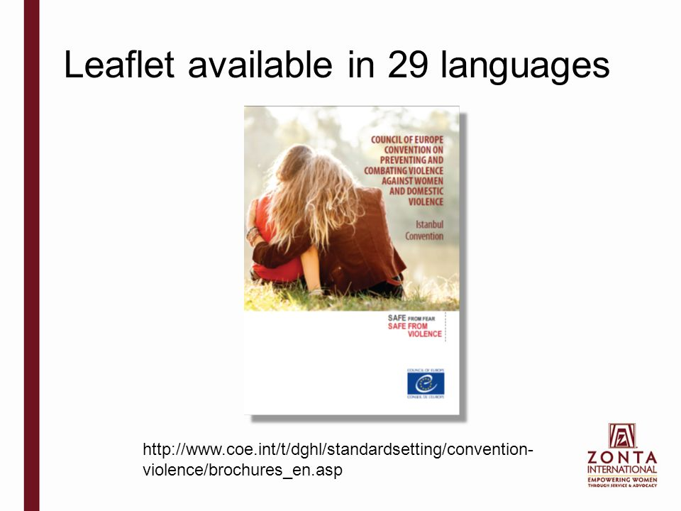 Leaflet available in 29 languages   violence/brochures_en.asp