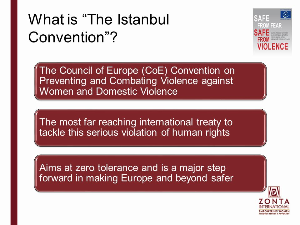 What is The Istanbul Convention .