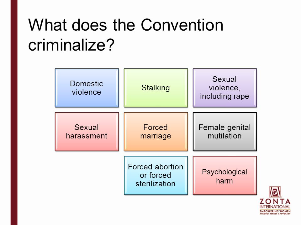 What does the Convention criminalize.