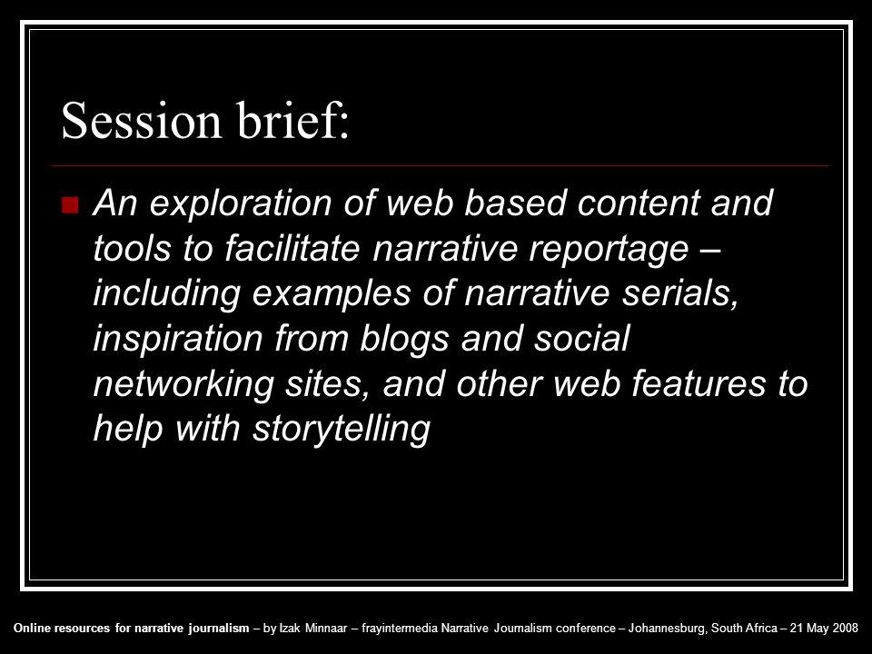 narrative journalism examples
