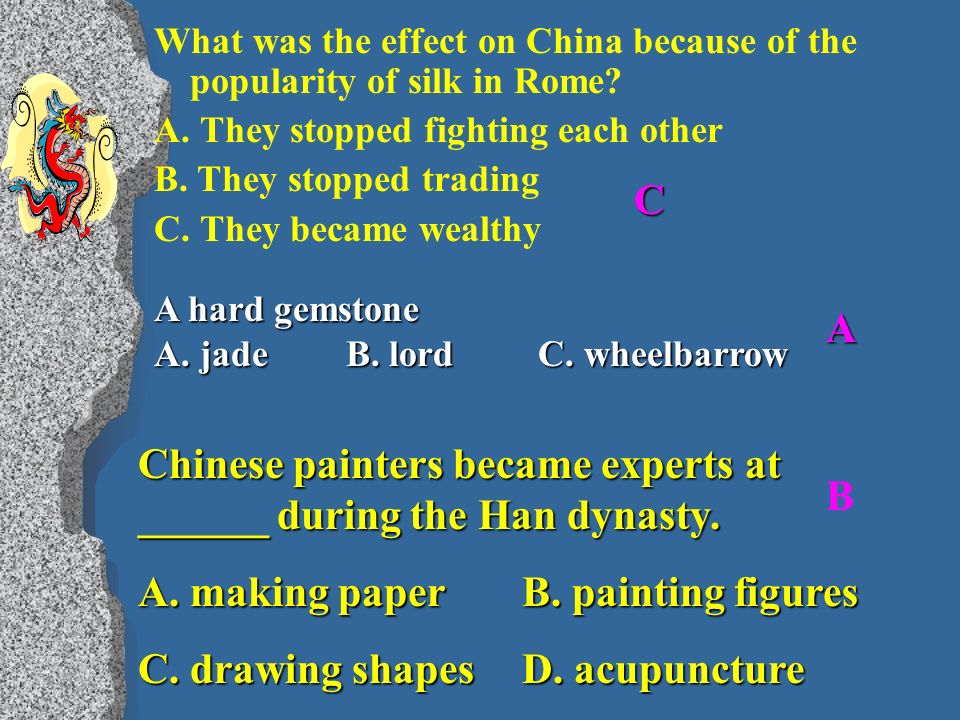 What was the effect on China because of the popularity of silk in Rome.