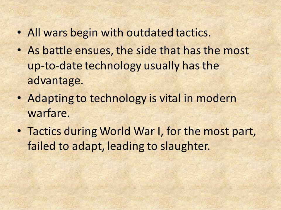 advantages of world war 1