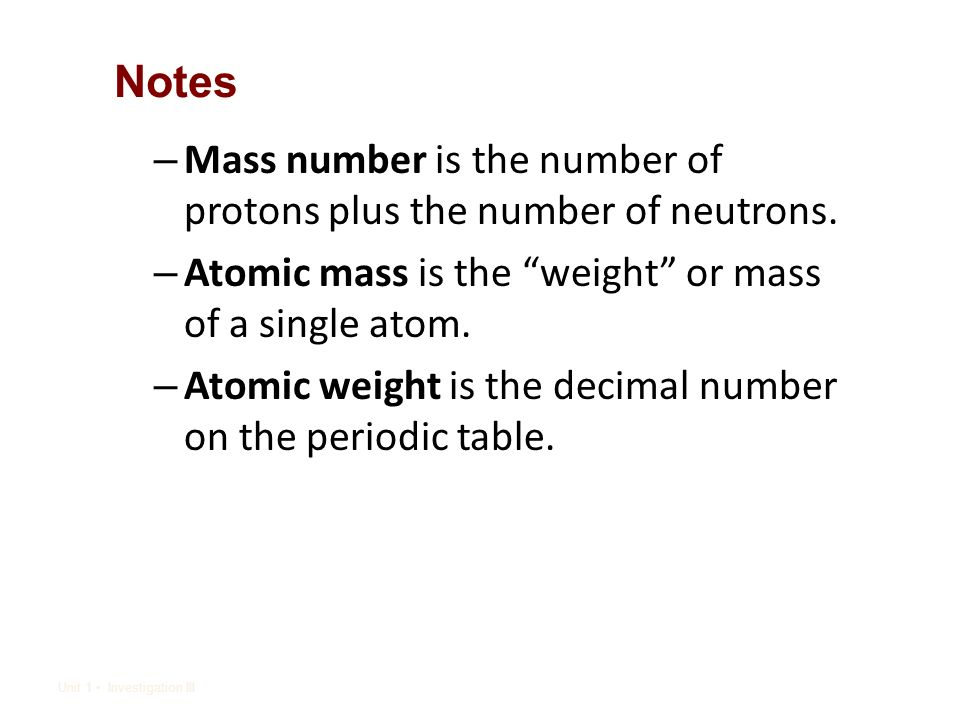Periodic Table Lesson 3 Atomic Number Vs Atomic Mass Ppt