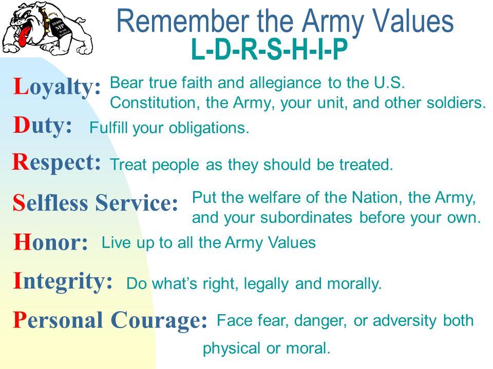 ldrship army values