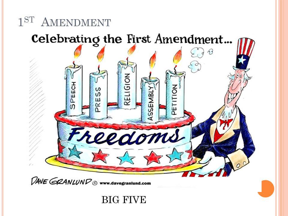 3 1 St A Mendment Big Five