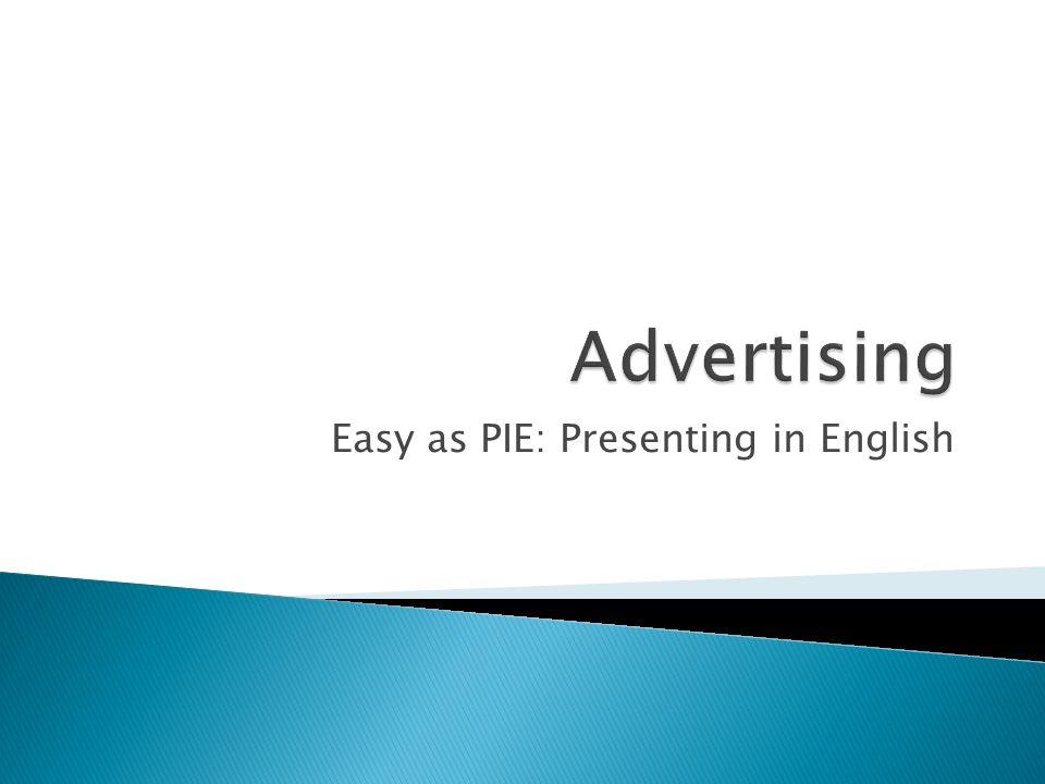 Easy as PIE: Presenting in English