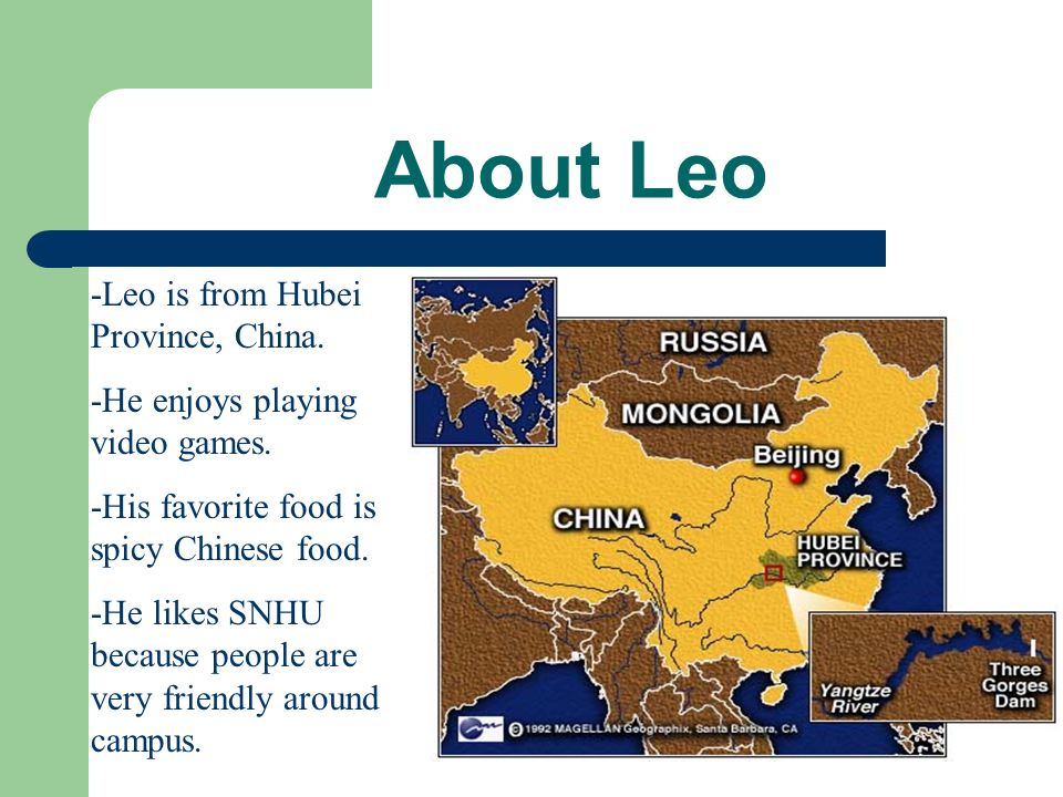 Our Interview With Leo By: Katelyn Martinson and Casey Suter