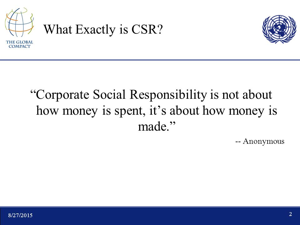 8/27/ What Exactly is CSR.