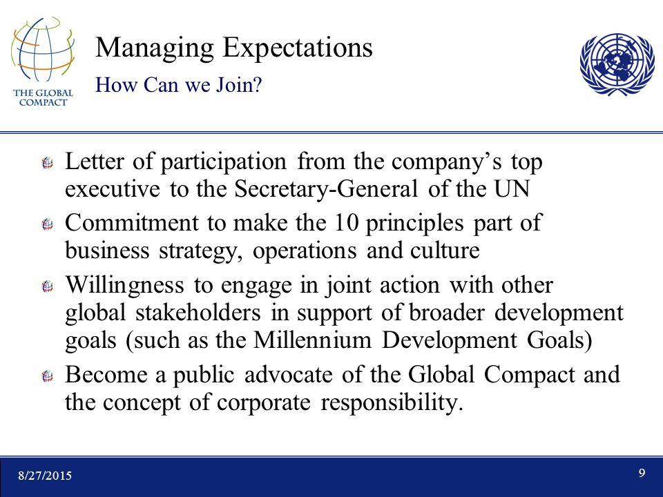 8/27/ Managing Expectations How Can we Join.