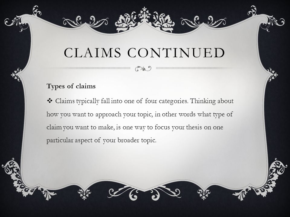 thesis types of claims