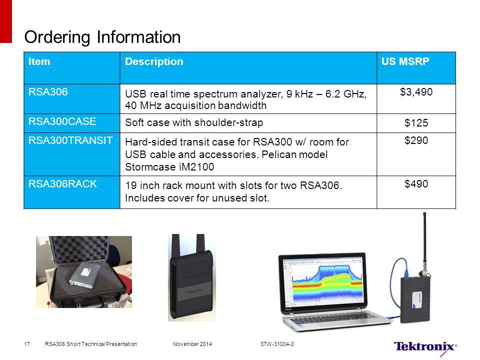 New RSA306 USB Spectrum Analyzer RF signal analysis in your