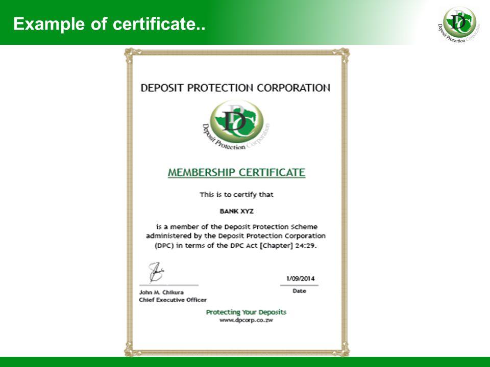 Publicity Of Deposit Protection Scheme Allen Musadziruma Public