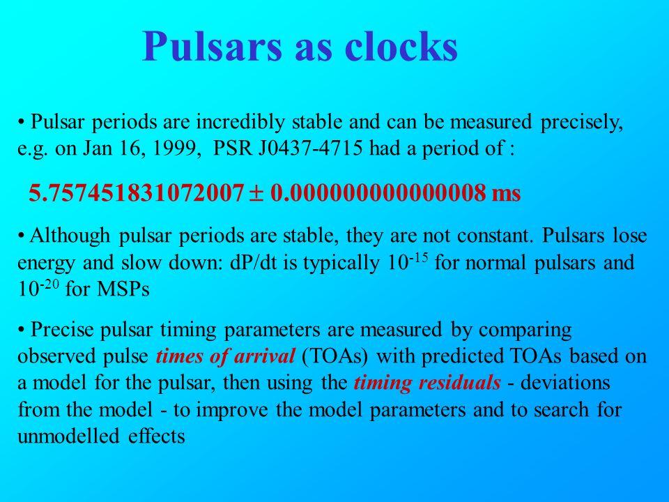 pulsar clocks