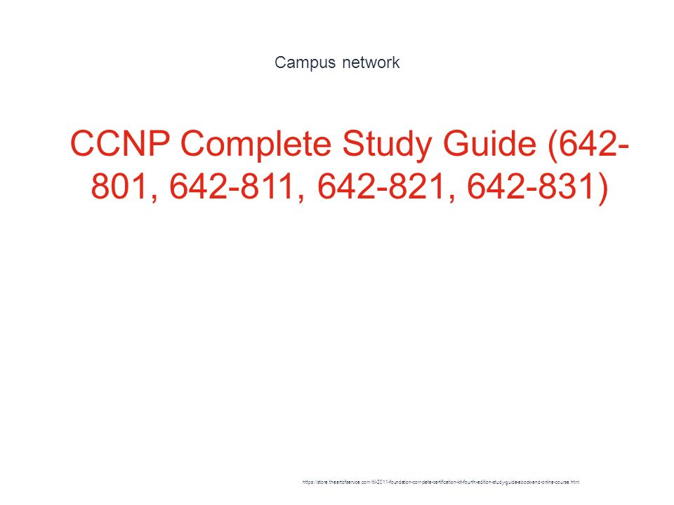 642-821 CCNP Study Guide Kit: Exams 642-801 642-811 642-831