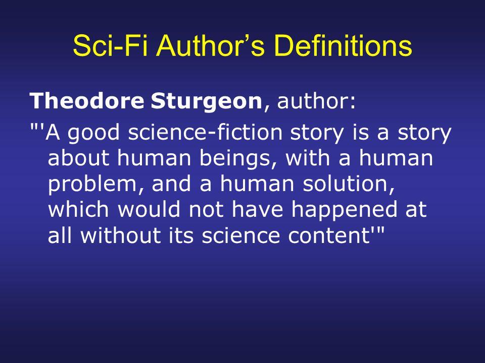 science fiction definition