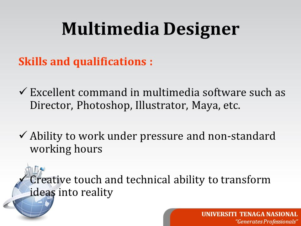 UNIVERSITI TENAGA NASIONAL \u201cGenerates Professionals\u201d MODULE 8 JOB