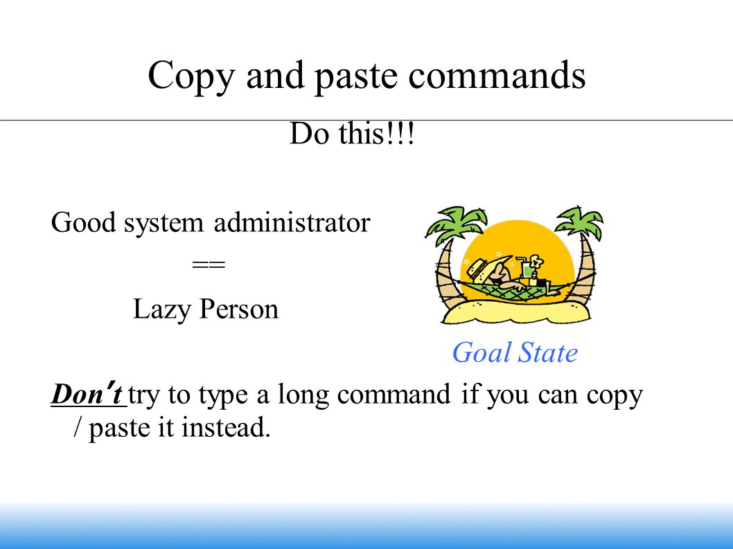 Copy and paste commands Do this!!.