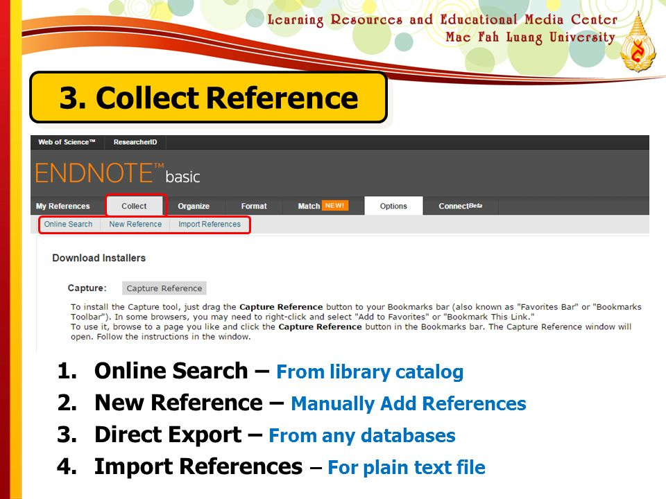Citation & Reference Management by EndNote Web  EndNote Web