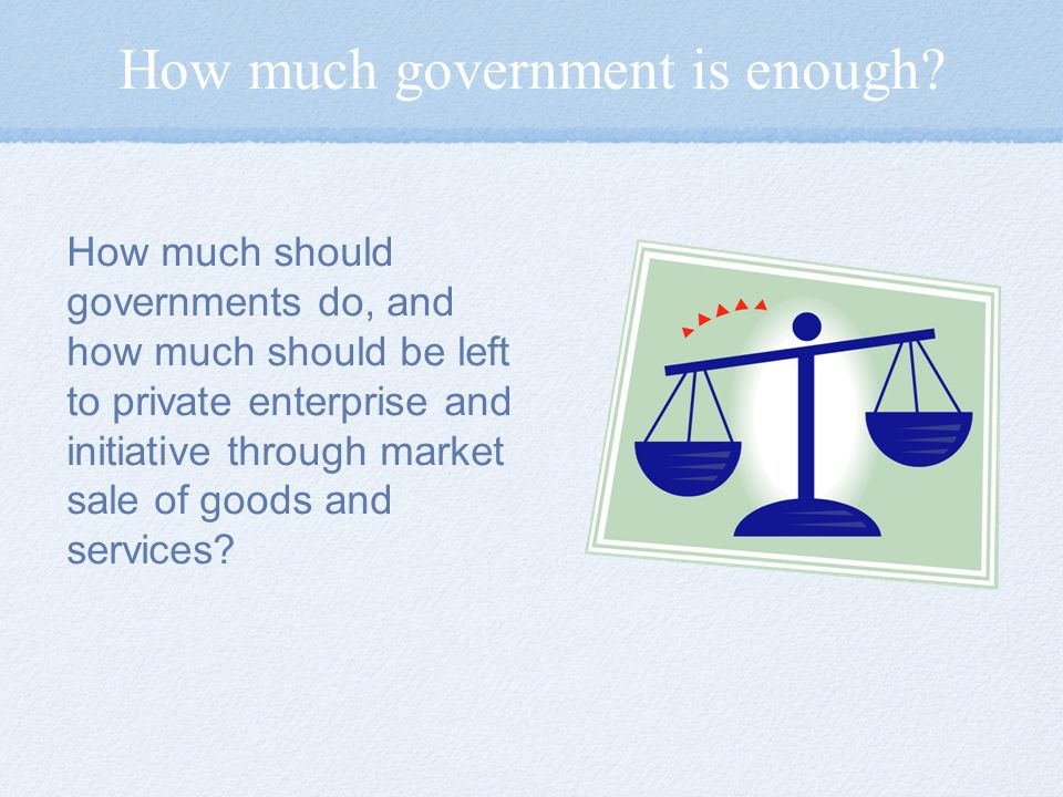 How much government is enough.
