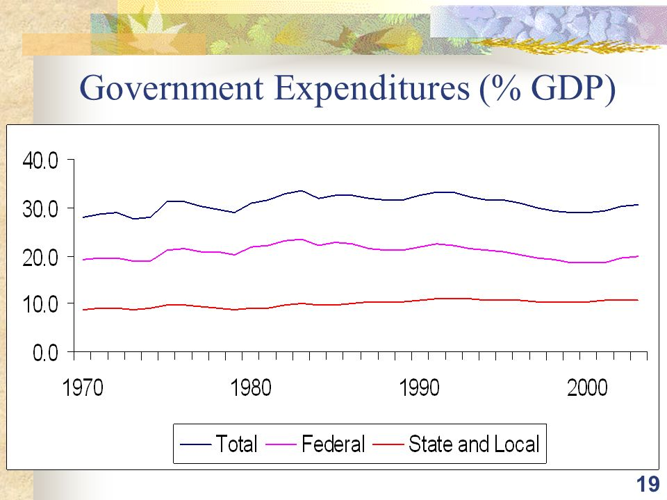 19 Government Expenditures (% GDP)