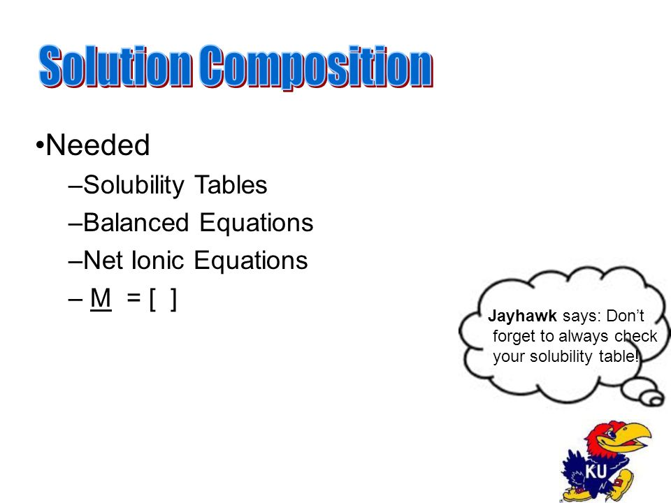 Jayhawk says: Don't forget to always check your solubility table.