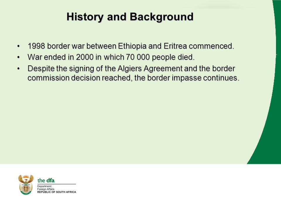 Ethiopia Eritrea Border Dispute Presentation Chief Directorate