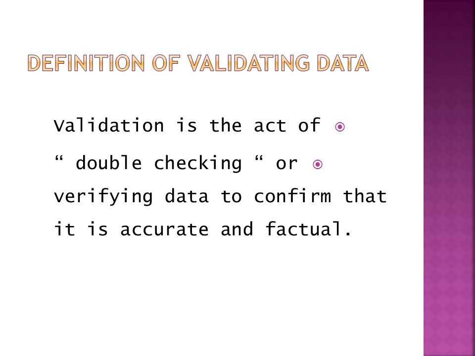 Validating act definition