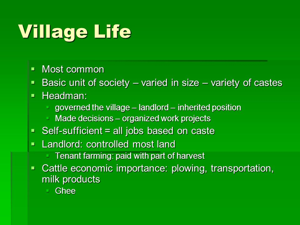 """India: Traditional Patterns of Life """"The traditional patterns of"""