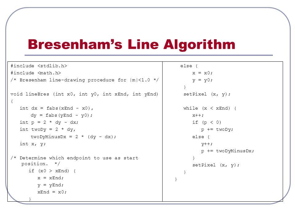 UNIT- I 2D PRIMITIVES  Line and Curve Drawing Algorithms