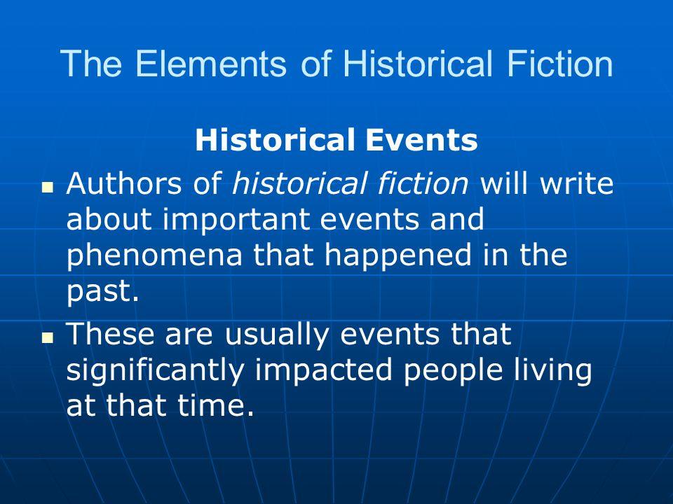interesting historical events to write about