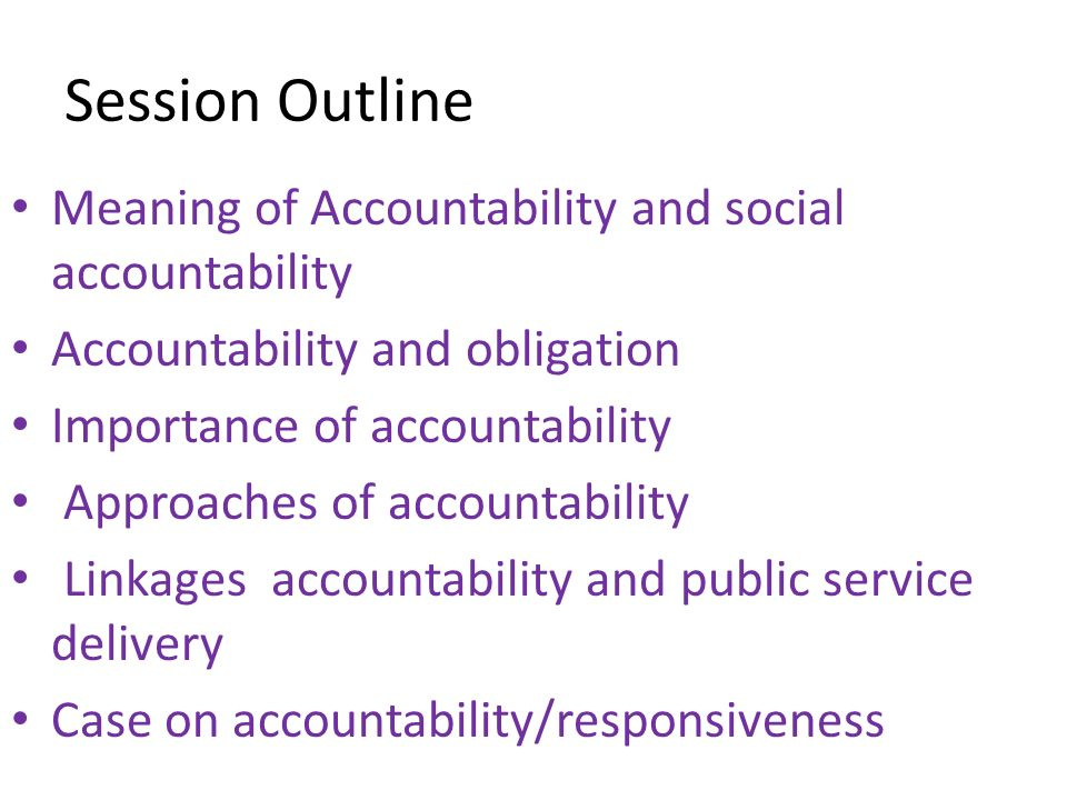 importance of accountability in public service
