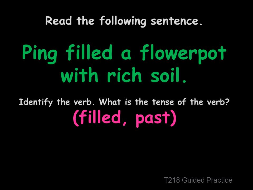 Read the following sentence. Ping filled a flowerpot with rich soil.